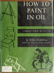 Cover of: How to paint in oil