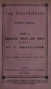 Cover of: Religion: what and why? or, God=X