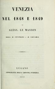Venezia nel 1848 e 1849