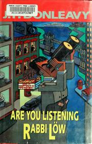 Cover of: Are you listening Rabbi Löw
