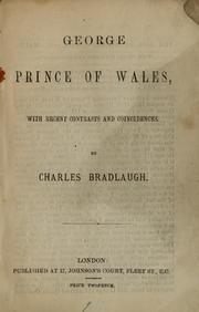 Cover of: George, Prince of Wales
