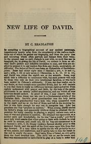 Cover of: New life of David