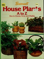 Cover of: House plants