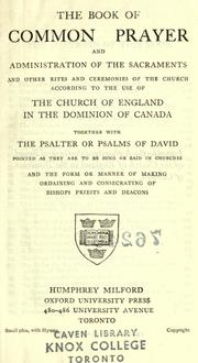 Cover of: The Book of Common Praise by Church of England in Canada.