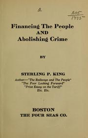 Cover of: Financing the people and abolishing crime