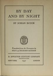 Cover of: By day and by night