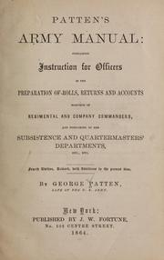 Cover of: Patten's Army manual