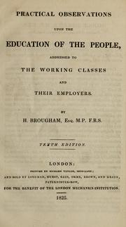 Cover of: Practical observations upon the education of the people
