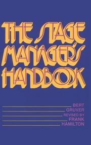 The stage managers handbook by Bert Gruver