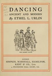 Cover of: Dancing, ancient and modern | Ethel L. Urlin