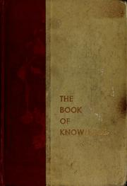 Cover of: The Book of knowledge |