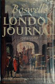 London journal, 1762-1763 by James Boswell