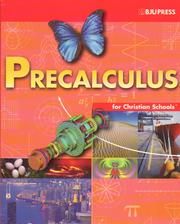 Cover of: Precalculus for Christian Schools