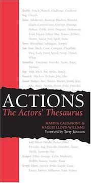 Cover of: Actions | Marina Caldarone