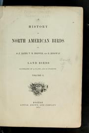 Cover of: A history of North American birds