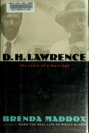 Cover of: D.H. Lawrence, the story of a marriage