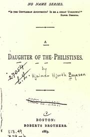 Cover of: A daughter of the Philistines