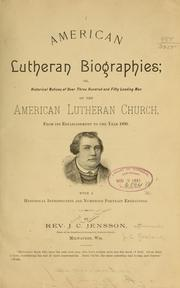 Cover of: American Lutheran biographies | Jens Christian Roseland