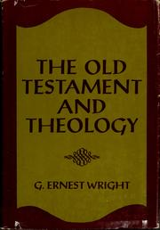 Cover of: The Old Testament and theology
