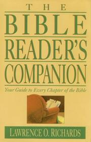 Cover of: The Bible reader's companion