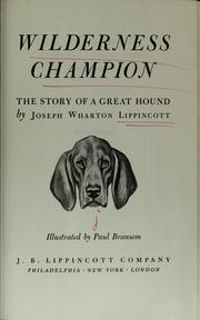 Cover of: Wilderness champion