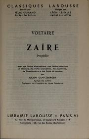 Cover of: Zaïre