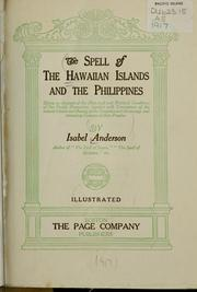 Cover of: The spell of the Hawaiian Islands and the Philippines | Isabel Anderson