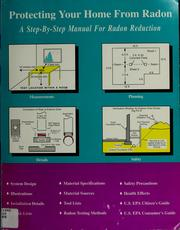 Cover of: Protecting your home from radon | Douglas L. Kladder