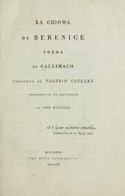 Cover of: La chioma di Berenice