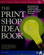 Cover of: The print shop idea book