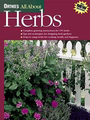 Cover of: Ortho's all about herbs