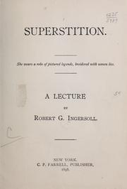 Cover of: Superstition ..: A lecture
