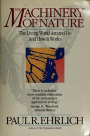 Cover of: The machinery of nature