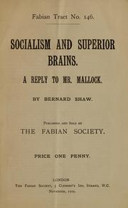 Cover of: Socialism and superior brains
