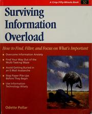 Cover of: Surviving information overload