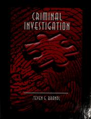 Cover of: Criminal investigation | Steven G. Brandl