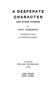 Short stories by Ivan Sergeevich Turgenev