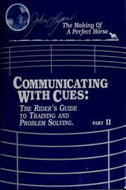 Cover of: Communicating with cues | Lyons, John