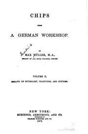 Cover of: Chips from a German workshop | F. Max MГјller