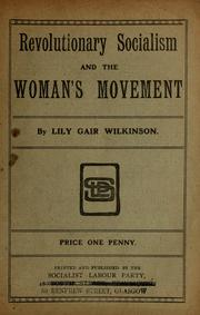Cover of: Revolutionary socialism and the woman