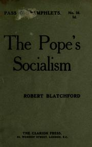 Cover of: The Pope's socialism
