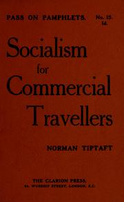 Cover of: Socialism for commercial travellers | Norman Tiptaft