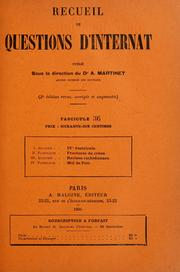 Cover of: Recueil de questions d'internat