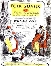 Cover of: Folk Songs of England, Ireland, Scotland, & Wales | William Cole