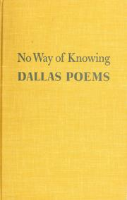 Cover of: No way of knowing