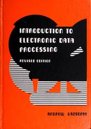Cover of: Introduction to electronic data processing by Andrew Vazsonyi