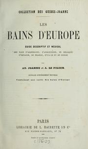 Cover of: Les bains d'Europe by Joanne, Adolphe Laurent