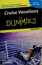 Cover of: Cruise vacations for dummies | Heidi Sarna