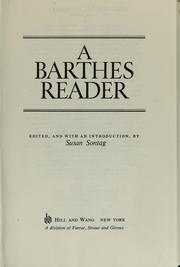 Cover of: A Barthes reader