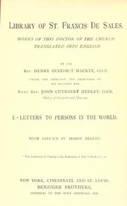 Cover of: Letters to persons in the world